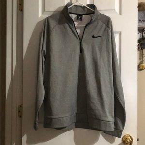 Nike Gray Zip Pullover Jacket EUC
